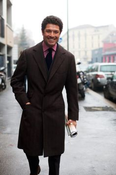 http://chicerman.com  suitsupply:  Outerwear Experts  Theres no better way to learn than taking a look at those who do it best. Whether you want a single or double breasted coat the key to finding a piece that will look great this fall is understanding the basics.  1. Think about the length. You want a coat that falls above the knee but one that is certainly longer than your suit jacket. This lower thigh area is the sweet spot as it allows the coat to be worn professionally as well as on the…