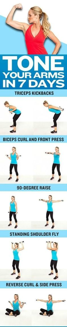 Tone your arms  in 7 days, arm exercises, tricep exercises, bicep exercises, strong arms