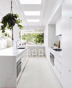 Trendy Kitchen Cabinets Green Plants – Best Home Plants Modern Grey Kitchen, Grey Kitchen Designs, Outdoor Kitchen Design, Modern Kitchen Design, Interior Design Kitchen, New Kitchen, Kitchen Decor, Kitchen Plants, Green Kitchen
