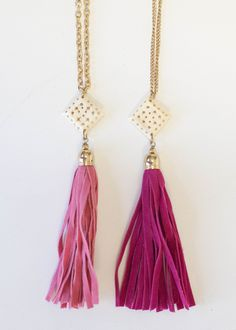 Velvet Tassel Necklace