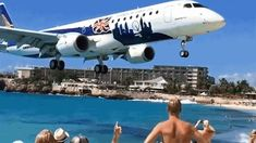 This Brazilian built regional jet barely makes it to a smooth patch on the landing strip, clearing the fence at Maho Beach in St. Maarten with a razor thin margin of error. While these kinds of hairy landings are common on the Caribbean island, this ultra slow motion video really exposes this close shave with disaster.