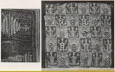 Heraldic pouches revisited. Image from Gomez-Moreno, M (1946), El panteon real de las Huelgas de Burgos, Madrid: Consejo superior de investigaciones cientificas, Instituto Diego Velazquez.