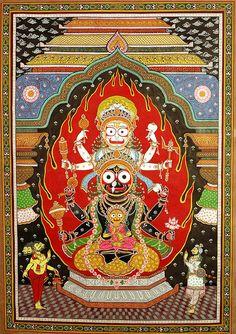The Trinity of Balarama, Subhadra and Krishna at the Temple of Jagannatha
