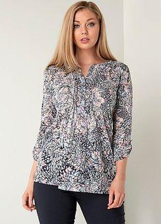Roman Originals Burnout Print Shirt #Kaleidoscope #Work #Workwear #Fashion #Style #Boss
