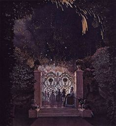 Konstantin Somov | Fireworks in the Park, 1907