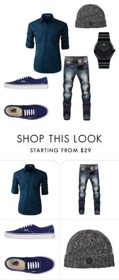 High Fashion Men, Men's Fashion, Cool, Menswear, Vans, Shoe Bag, Polyvore, Clothing, Blue