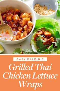 These Thai chicken lettuce wraps are quick-cooking, flavorful and light, making them the ideal 20-minute summer dinner. #wraps #recipe #healthy Easy Thai Recipes, Wrap Recipes, Asian Recipes, Healthy Dinner Recipes, Vegetarian Recipes, Asian Cooking, Cooking Food, Easy Cooking, Cooking Recipes