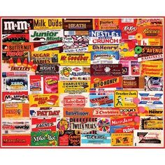 Candy Wrapper Puzzle. Take a sweet stroll down memory lane with our new Candy Wrapper puzzle, which has quickly become one of our best selling jigsaws