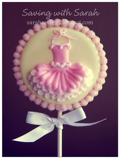 Tutu Cookie Pops Ballerina Cookies  #balletcookies #tutucookies Decorated Cookies, sugar cookies, ballet cookie pop