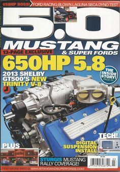 5.0 Mustang and Super Fords magazine Shelby motor Digital suspension install