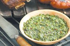 Chimichurri sauce by Matt Preston - Sauce Recipes, Cooking Recipes, Chef Cookbook, Tasty, Yummy Food, Chimichurri, Salad Dressings, Preston, Palak Paneer