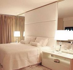 Quarto para inspirar ✨ Ambiente maravilhoso, clean e elegante! Boa noite