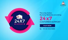 Classicrummy.com - The only Indian Rummy website providing 24/7 customer support   #rummy #classicrummy #onlinerummy #customersupport #customerservice #support #Indianrummy #cardgames #rummygames #rummycards