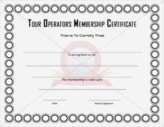 Download and use one of our membership certificate
