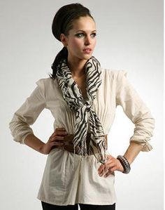 f you are going to wear a scarf, make sure to make it your spotlight accessory. There is a lot of attention that comes with wearing a scarf and it has the ability to make an outfit standout for everyone to remember! In some cases, the scarf may be the only accessory you need to complete a sophisticated look for a standout outfit.
