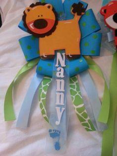 Safari themed boy mum for nanny/godmother