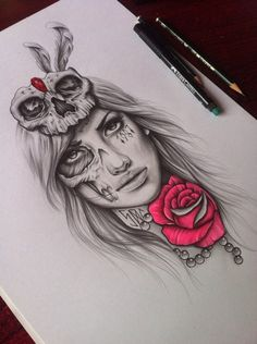 I like the idea of a pop of colour on a rose or something for a grey and black tattoo