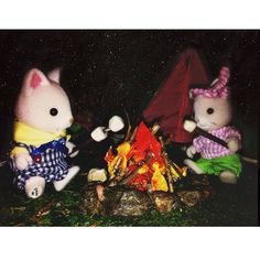 """""""Nothing like roasting marshmallows under a blanket of stars."""" This #SylvanianSummer entry was sent in by SylvanianLiving #SylvanianFamilies"""