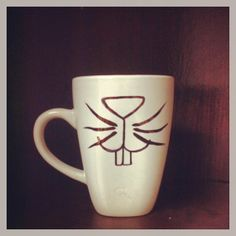 Cute Rabbit Mug by KitchenPaintedPretty on Etsy, $9.00