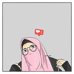 Muslim Pictures, Muslim Religion, Anime Muslim, Hijab Cartoon, Islamic Girl, Girl Hijab, Muslim Girls, My Collection, Illustrations And Posters