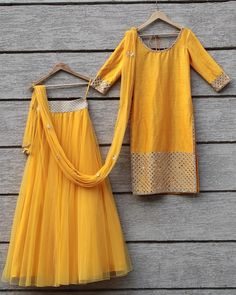 From summer with love ☀ Outfit #umraomirza #yellow #lehenga #skirt #kurta #indian #fashion #style #trend #designer