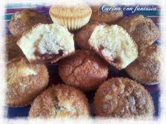Muffin con cuore di fragola