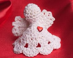 They have a special memory for me! This free crochet pattern makes into a lovely angel bell ornament for your Christmas tree. Find this and many other free crochet patterns at Craftown. Crochet Christmas Ornaments, Christmas Crochet Patterns, Holiday Crochet, Crochet Snowflakes, Angel Ornaments, Christmas Knitting, Thread Crochet, Crochet Motif, Crochet Designs