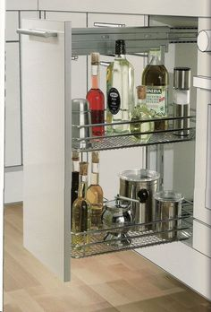 "Metal Slim Pantry W/ 2 Baskets for 8"" or 12"" Cabinet"