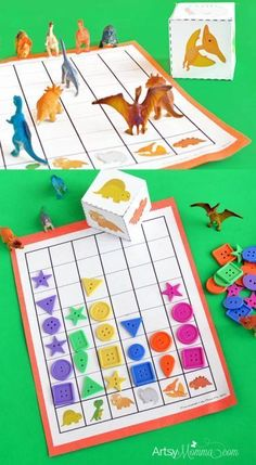 Math for Preschoolers: Printable Dinosaur Graphing Games