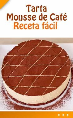 #Tarta #Mousse de #café. #Receta #fácil Short Ribs, Cheesecakes, Tiramisu, Catering, Food To Make, Food And Drink, Sweets, Dishes, Ethnic Recipes
