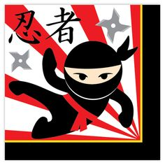 Ninja Party Lunch Napkins (16)