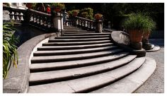 Steps leading from the Linderhof Castle, into the Baroque garden :)
