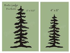 Pine Tree STENCIL Rustic Mountain Lodge Home Decor Cabin Outdoor craft signs