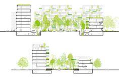 architecture sections _ Logements et chapelle Zac Seine Arche – Nanterre