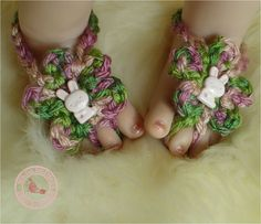 Spring Baby Barefoot Sandals Baby Girl by SweetnessInSmyrna, $9.99