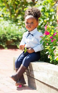 Cute Little Baby, Pretty Baby, My Little Girl, Baby Girl Fashion, Toddler Fashion, Black Kids Fashion, Beautiful Black Babies, Beautiful Children, Little Girl Outfits