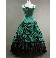 Green Satin Victorian Dress - sadly this pic no longer leads anywhere.