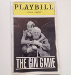 Playbill 1997 The Gin Game Julie Harris Charles Durning Lyceum Theatre Broadway