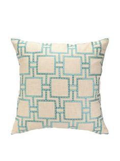 Peking Handicraft Dotted Line Pillow, Turquoise, http://www.myhabit.com/redirect/ref=qd_sw_dp_pi_li?url=http%3A%2F%2Fwww.myhabit.com%2Fdp%2FB00HPN9WSG