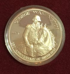 UNC Proof, 1982 US George Washington 250th Anniversary Half Dollar Silver Coin