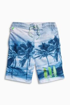 Buy Blue Palm Photo Swim Shorts (3-16yrs) from the Next UK online shop