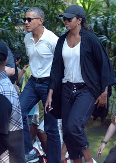 The Obamas visited the Tirta Empul Temple in Bali.