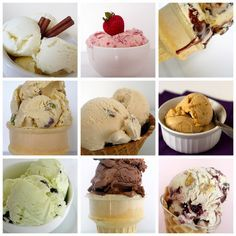 Top 10 Favorite Ice Cream Recipes- used for the kitchenaid ice cream maker! Butter pecan, strawberry, chocolate, vanilla bean, pistachio, cinnamon, tin roof, cherry and nut, etc