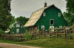 Green country barn and stable