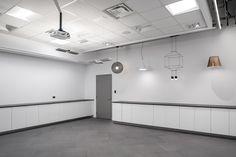 The FLUX studio & our ever changing array of fixtures. #studio #design #lighting #showroom #pendant #dyson #moooi #vibia #techlighting #delta