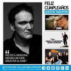 Hoy cumple años una de las mentes más creativas del cine contemporáneo. ¡Felicidades #QuentinTarantino ! Director, guionista y actor. #PulpFiction #KillBill #InglouriousBasterds #DjangoUnchained