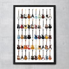 Guitar Legends Collage Poster Fine Art Print for by TaylanSoyturk, $17.00
