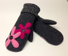 Fleece Lined Wool Mittens for $38.00. SO warm and cozy for cold winters. Visit www.madeinthemitten13.etsy.com