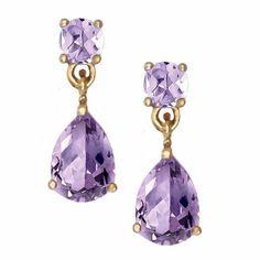 Crystal Earrings, Gold Earrings, Drop Earrings, Kate Spade Earrings, Earring Cards, Light Purple, Jewelry Collection, Pendant Necklace, Jewels