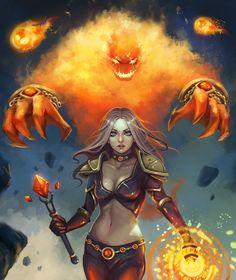 Fire mage by RinaCane.deviantart.com on @DeviantArt